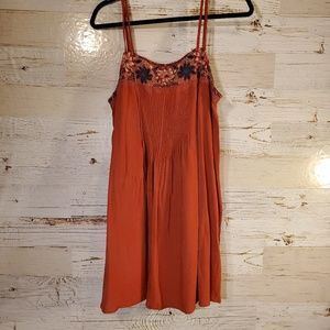 AEO flowy embroidery tank top